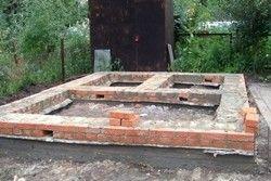 фундамент для лазні з блоків