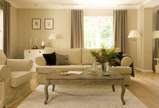 Фото - Гармонійне використання бежевого дивана в інтер'єрі в вітальні