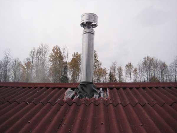 Фото - Герметизація вузла проходу труби через дах
