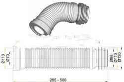 Схема розмірів стандартної гофровой труби
