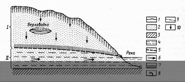 Грунтові води: визначення, глибина залягання, особливості