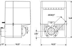 Схема електроприводу для автоматичних воріт