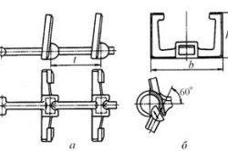 Лита розбірна ланцюг з ковкого чавуну: а - конструкція- б - спосіб збирання-розбирання