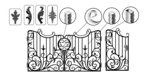 Приклад металовироби з елементами художньої ковки