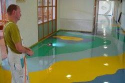 Заливка полімерної підлоги