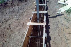 Підстави під стрічковий фундамент для паркану з цегли