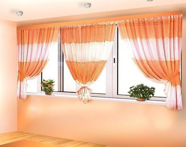 Фото - Інструкція по виготовленню і прикраси штор на балкон