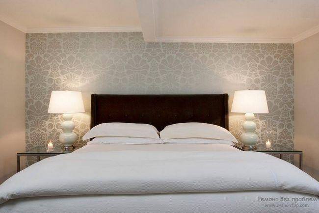 Бамбукові шпалери в інтерєрі спальної кімнати