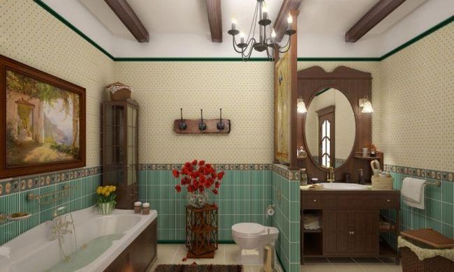 Фото - Інтер'єр ванної кімнати в стилі кантрі