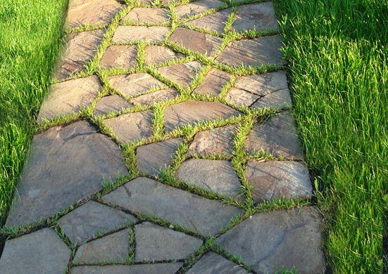 Використання натурального каменю на доріжках, технологія укладання