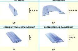 Види профілів для кріплення полікарбонату
