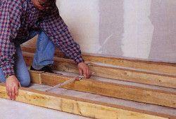 Фото - Отже, виконуємо монтаж дерев'яної підлоги: фальшпол або лаги?