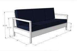 Варіант виготовлення дивана з бруса