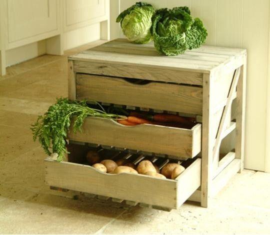 Ящик для зберігання картоплі на балконі