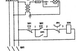 Схема електрична точильного шліфувального верстата