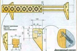 Схема деревяного карниза своїми руками