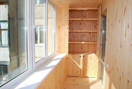 Внутрішнє оздоблення балкона