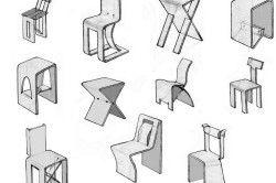 Ескізи стільців і табуретів з фанери