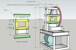 Схема профільного трубогиба