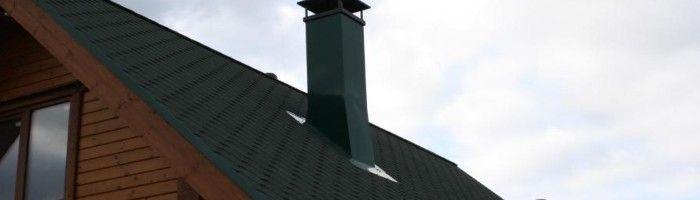 Фото - Ізоляція пічної труби на даху