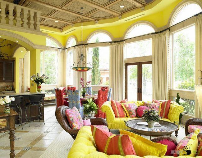 Жовтий і рожевий