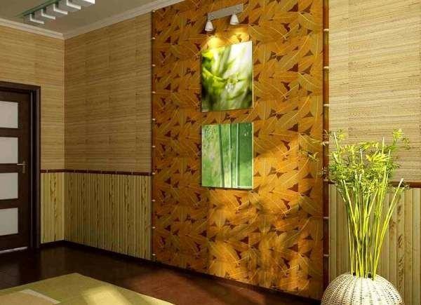 Фото - Екзотичний інтер'єр за допомогою обробки кімнати бамбуком
