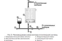 Монтаж системи опалення (схема).