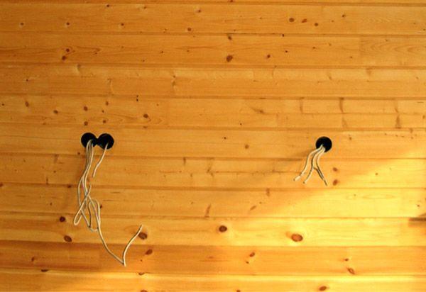 Кабель-канали в стінах лазні