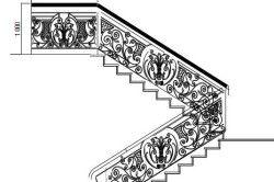 Схема ескізу перил для кованих сходів