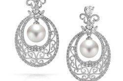 Ажурні сережки з перлами
