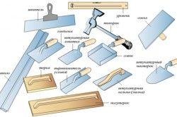 Інструменти для штукатурки стін