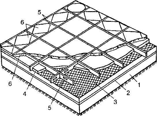 террацевих підлогу