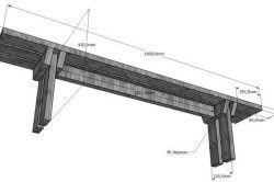 Схема виготовлення лавки