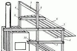 Схема розміщення полиць і лави в лазні