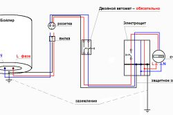 Електрична схема підключення бойлера