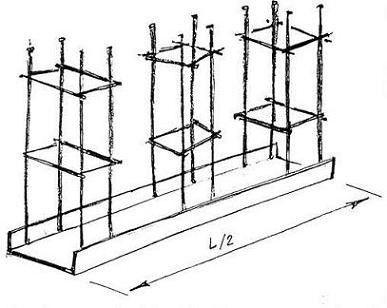 Схема закладного елемента