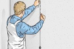Використання маяка для рівної поклейки 3d шпалер