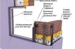 Схема монтажу профнастилу на стіни.