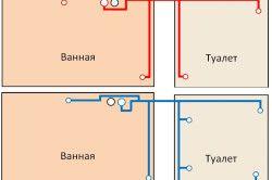 Схема гарячого і холодного водопостачання