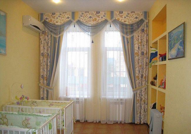 Оформлення штор в дитячій кімнаті