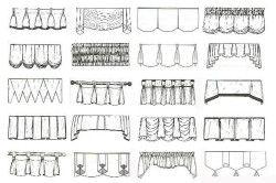 Схема драпірування штор для пошиття