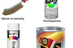 Інструмент і матеріали для усунення іржі на металевих дверей