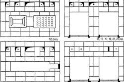 Схема монтажу мангала-коптильні з цегли по рядах