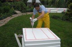 Прикріплення пінопласту до бетону клеєм