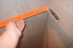 Вимірювання стін косинцем