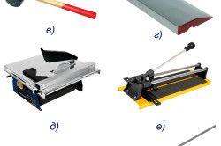 Основні інструменти для укладання плитки