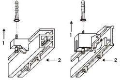 Схема установки стельового карниза