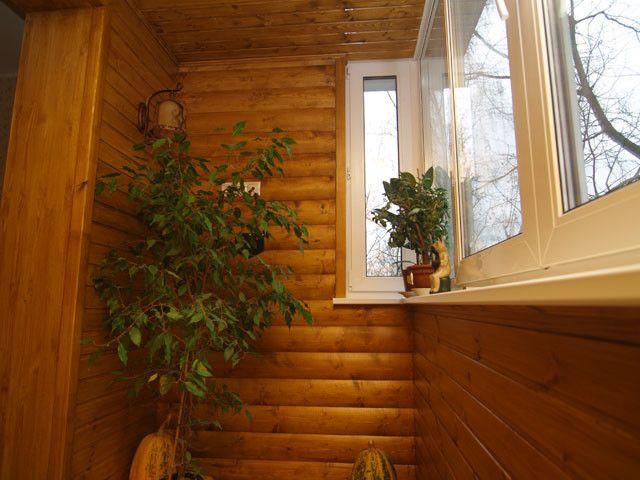 Фото - Як обшити балкон блок-хаусом