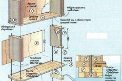 Схема збірки шафки для ванної