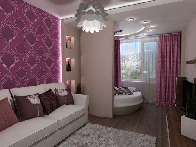 Фото - Як облаштувати оригінально вітальню спальню?